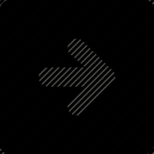 arrow, right, square icon