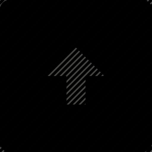 arrow, square, top icon