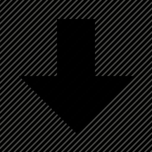 arrow, bottom icon