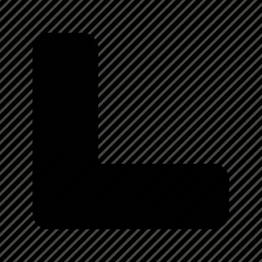 arrow, bottom, left icon