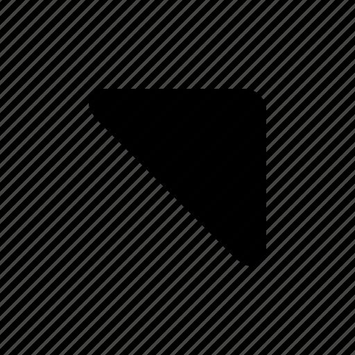 right, top, triangle icon