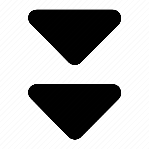 bottom, triangles icon