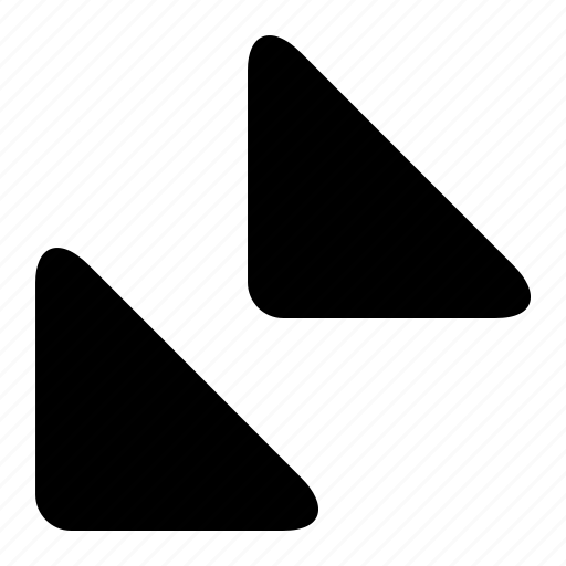bottom, left, triangles icon