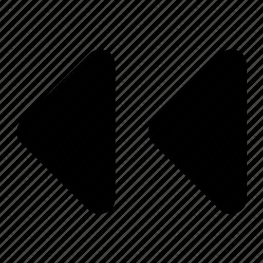 left, triangles icon