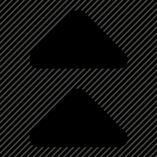 top, triangles icon