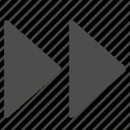 arrow, arrows, fast forward icon