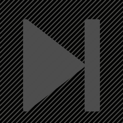 arrow, end, multimedia icon