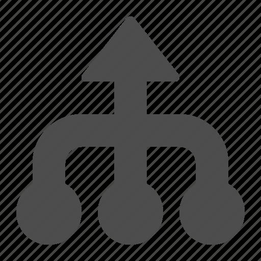 arrow, arrows, business, hierarchy, team icon