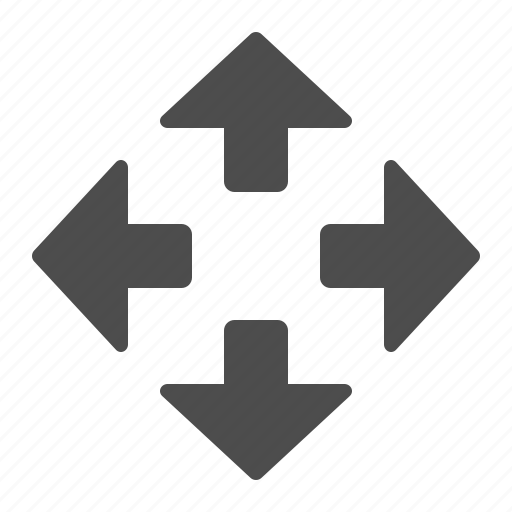 arrow, arrows, fullscreen, maximise icon