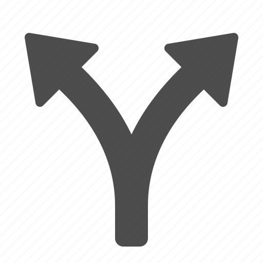 Pointer, crossroad, arrows icon