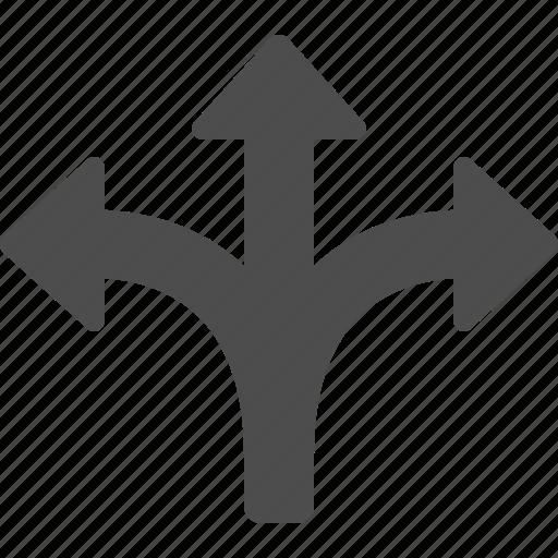 arrow, arrows, crossroad icon