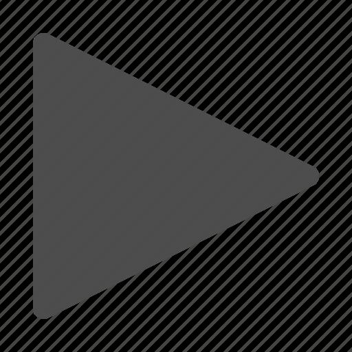 arrow, button, media, multimedia, play icon