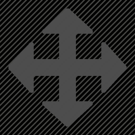 arrow, arrows, enlarge, fullscreen, maximise icon