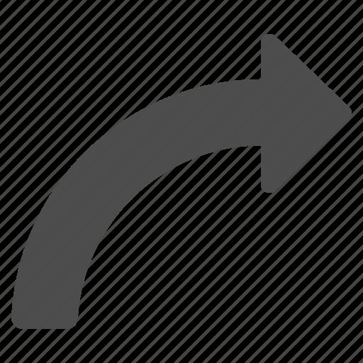 arrow, arrows, curved icon