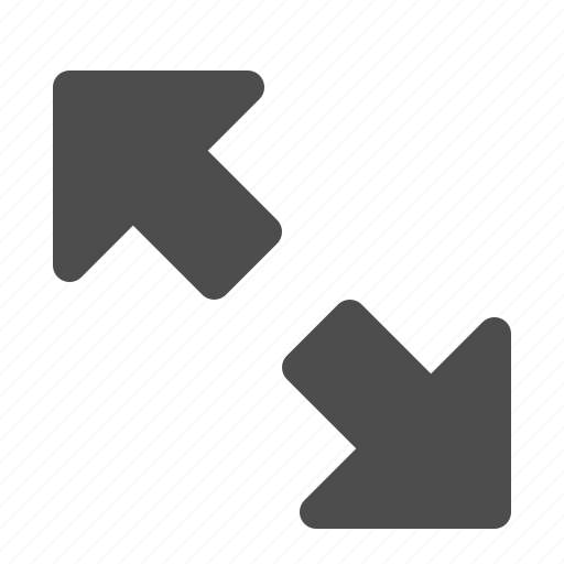 arrow, arrows, enlarge, fullscreen, out, zoom icon