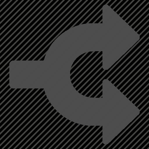arrow, arrows, multimedia icon