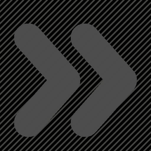 arrow, arrows, fast forward, media, multimedia icon