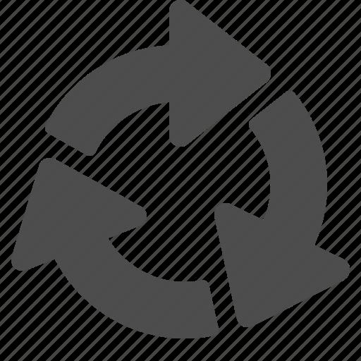arrow, arrows, recycle icon