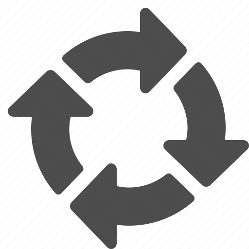 arrow, arrows, recycle icon
