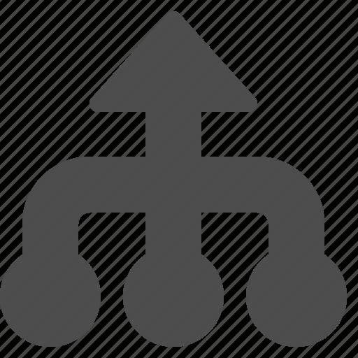 arrow, arrows, business, hierarchy icon