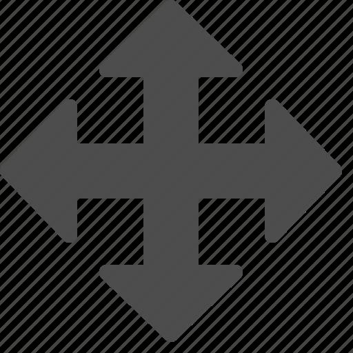 arrow, arrows, enlarge, fullscreen, maximize icon