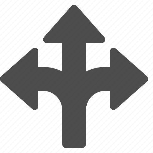 arrow, arrows, crossroad, share, sharing, strategy, tactic icon