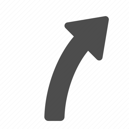 arrow, curved, direction, pointer icon
