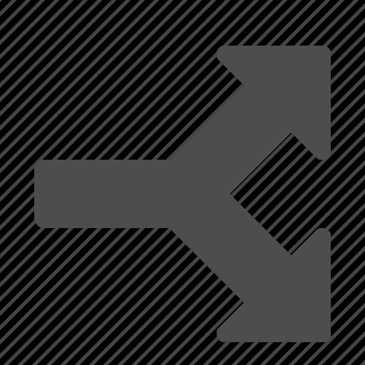 arrow, arrows, crossroads, direction icon