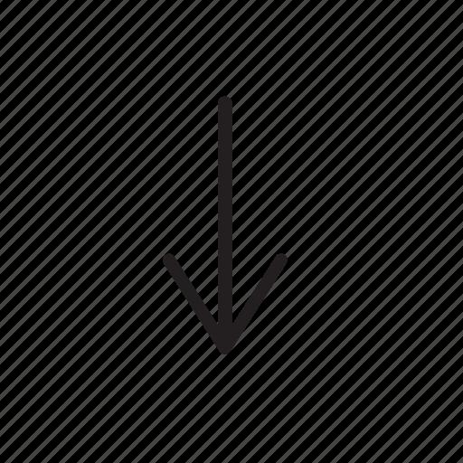 arrow, down, go down, move down, navigation icon