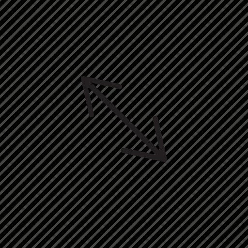 arrow, bigger, expand, navigation, resize icon