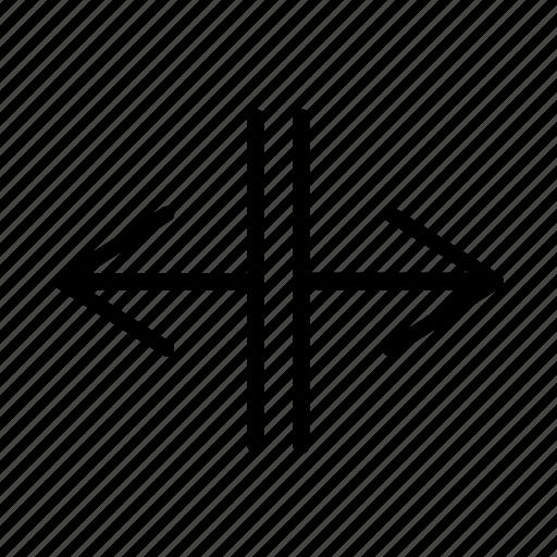 arrows, expand, horizontal, resize, split icon