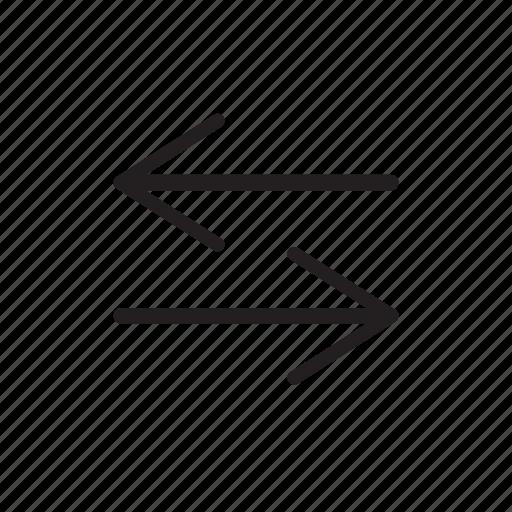 arrows, back forth, horizontal, navigation, sorting icon