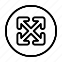 fullscreen, expand, maximize, direction, arrows