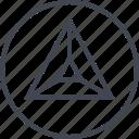 arrow, navigation, point, triangle, ui, up, ux icon
