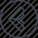 arrow, go, left, navigation, point, ui, ux icon