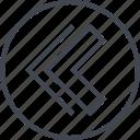 arrow, back, design, left, point, ui, ux icon