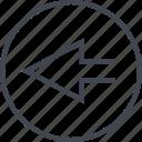 arrow, back, exit, navigation, point, ui, ux icon