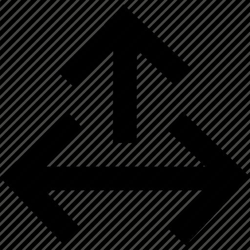 arrow, arrows, directions icon