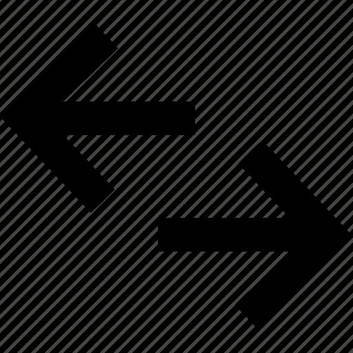 arrows, directions, exchange, horizontal exchange icon
