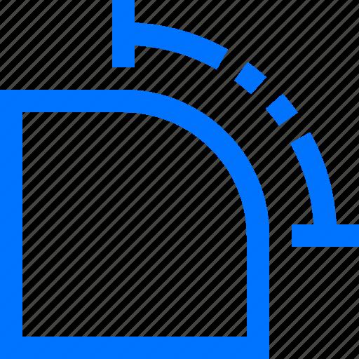 art, command, corner, curve, design, shape, transform icon