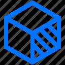art, cube, design, dimension, right, side, three icon