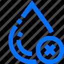 art, cancel, delete, design, drop, remove, water icon