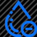 art, delete, design, drop, minus, remove, water icon