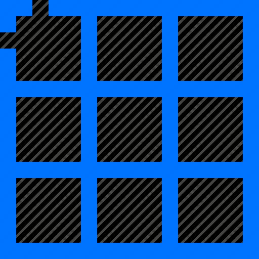 art, design, grids, table icon