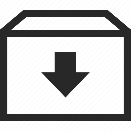 archive, arrow, down, download icon