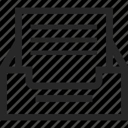 archive, document, file, inbox icon