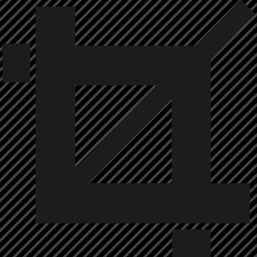 art, crop, design, select icon