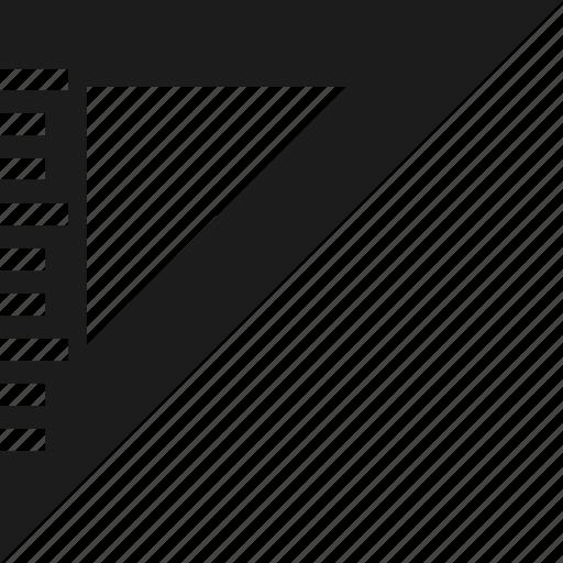 design, measure, ruler, triangle icon