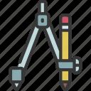 drawing, compass, artist, artwork, tool