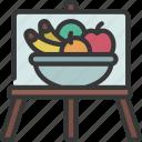 fruit, bowl, painting, artist, artwork